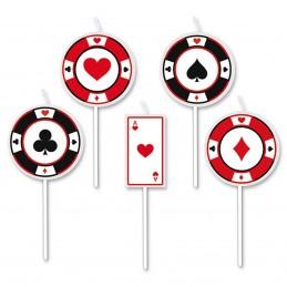 Set 5 lumanari Poker Party