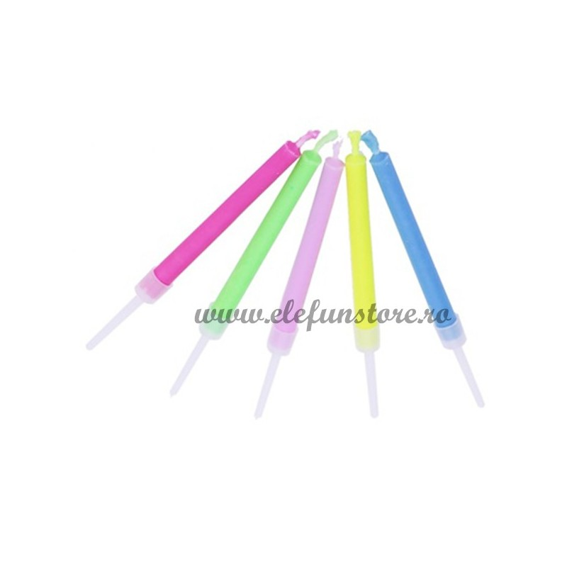 Set 5 lumanari cu flacara colorata
