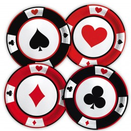 Set 8 farfurii Poker Party...