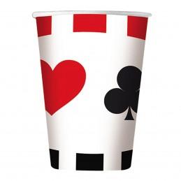 Set 8 pahare Poker Party 200ml