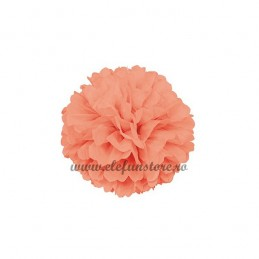 Floare Pom Pom Piersica 25 cm