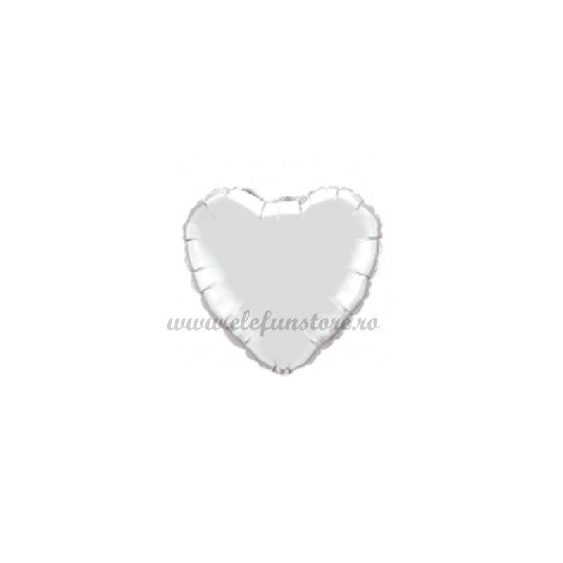 Balon Inima Argintie 25 cm