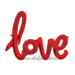 Balon Scris Love Rosu