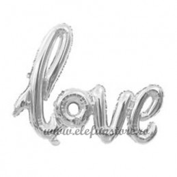 "Balon Scris ""LOVE"" Silver"