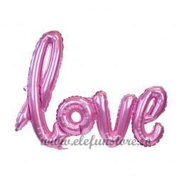 """Balon Scris """"LOVE"""" Roz"""