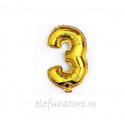 """Balon """" Cifra 2 """" Gold"""