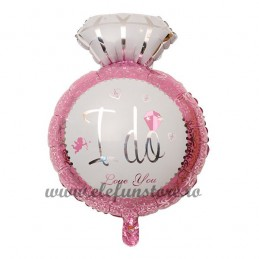 "Balon Inel ""I Do Love You "" Roz"