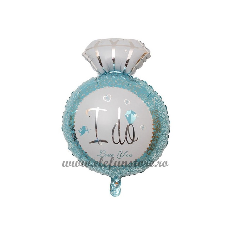 "Balon Inel ""I Do Love You "" Bleu"