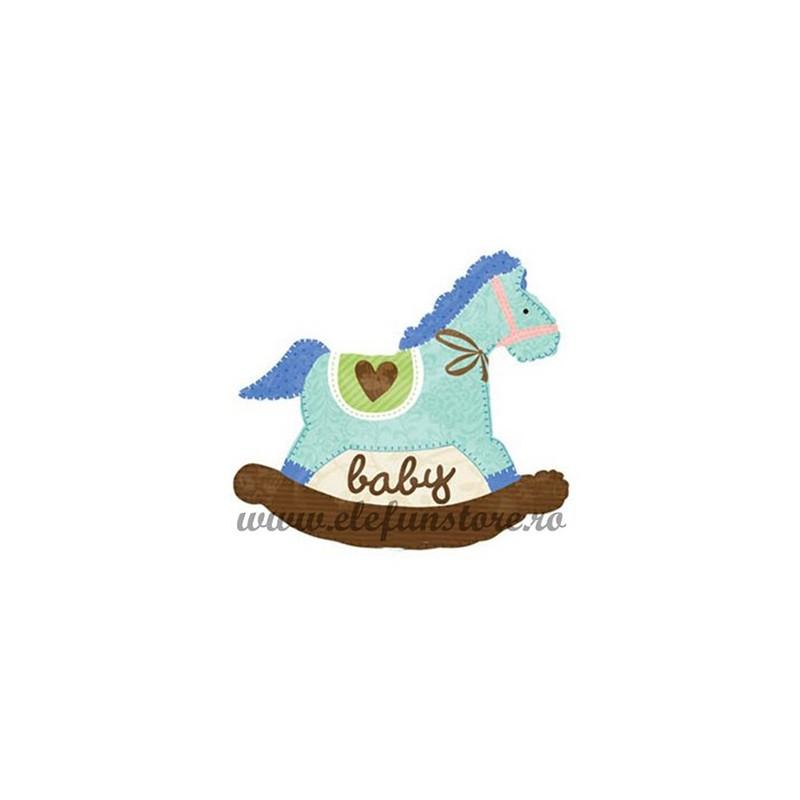 Balon Mini Figurina Calut Baby Boy Albastru