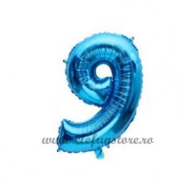 Balon Cifra 9 Albastra 40cm