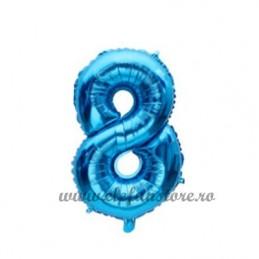 Balon Cifra 8 Albastra 40cm