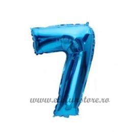 Balon Cifra 7 Albastra 40cm