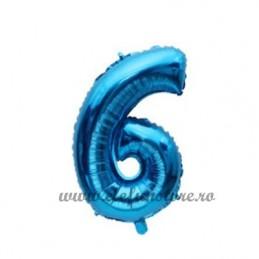 Balon Cifra 6 Albastra 40cm