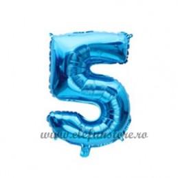 Balon Cifra 5 Albastra 40cm