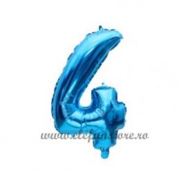 Balon Cifra 4 Albastra 40cm
