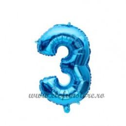Balon Cifra 3 Albastra 40cm