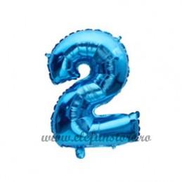 Balon Cifra 2 Albastra 40cm