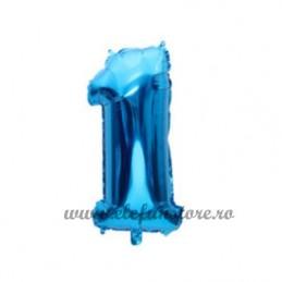 Balon Cifra 1 Albastra 40cm