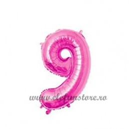 Balon Cifra 9 Roz 40cm