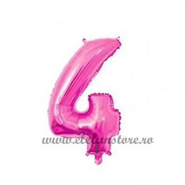 Balon Cifra 4 Roz 40cm