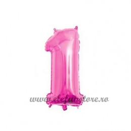 Balon Cifra 1 Roz 40cm