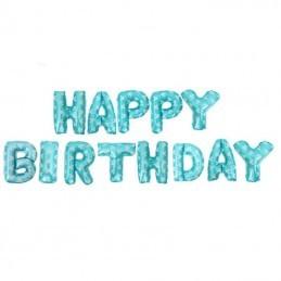 Set Litere Bleu  Happy Birthday 40 cm