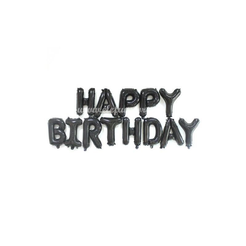 Set Litere Negre Happy Birthday