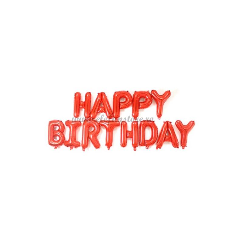 Set Litere Rosii Happy Birthday