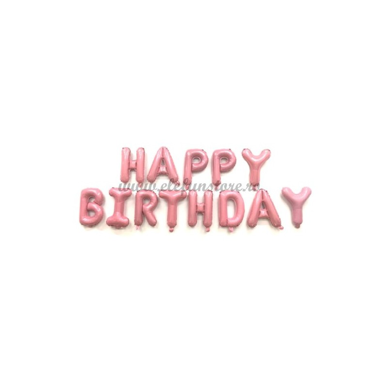 Set Litere Roz Candy Happy Birthday