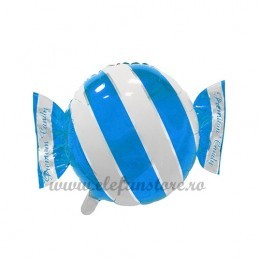 Balon Bomboana Bleu Dungi