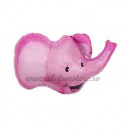 Balon Mini Figurina Elefant Roz