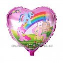 Balon Inima Unicorni