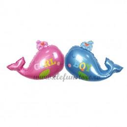 Balon Folie Balena Roz
