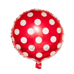 Balon Rosu cu Buline