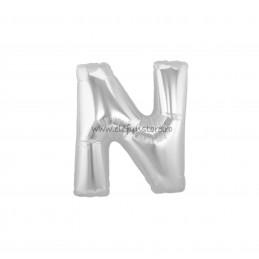 """Balon """" Litera M """" Silver"""