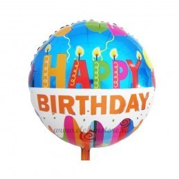 Balon Tort Happy Birthday