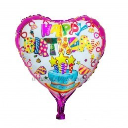 Balon Inima Happy Birthday