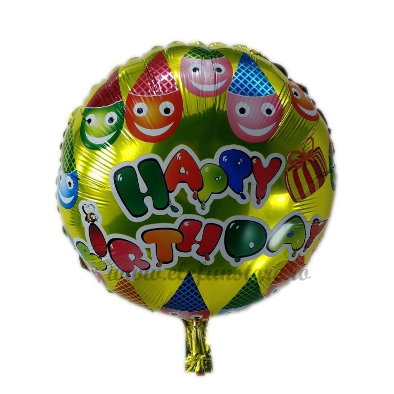 Balon Auriu Happy Birthday