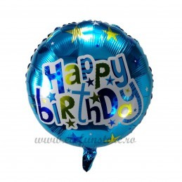 Balon Happy Birthday Bleu