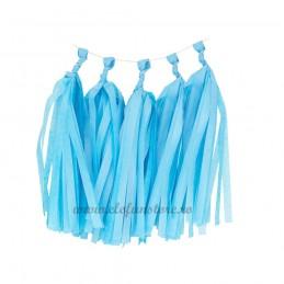 Ghirlanda 5 Tassels Bleu