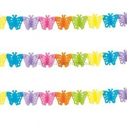 Ghirlanda cu fluturi multicolori
