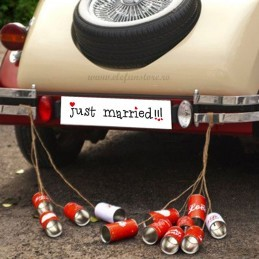 Placuta Just Married pt Masina Mirilor