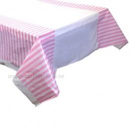 Fata de masa Roz cu Dungi
