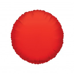Balon Rotund Rosu Metalizat 45cm