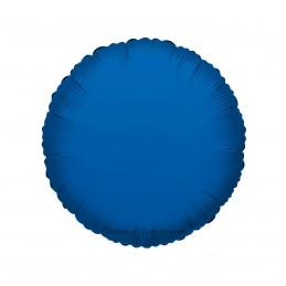 Balon Rotund Albastru Metalizat 45cm