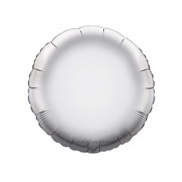 Balon Rotund Argintiu Metalizat 45cm