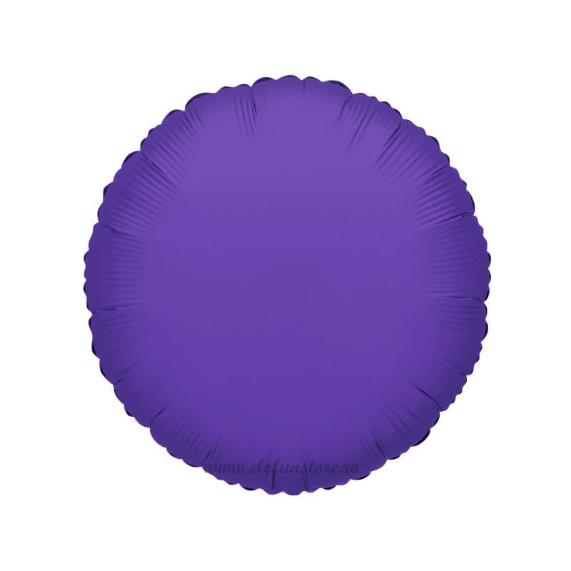 Balon Rotund Mov Metalizat 45cm