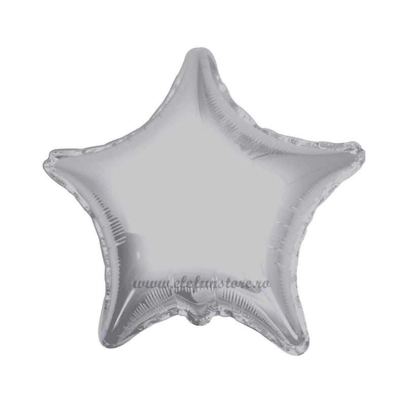 Balon Stea Argintie Metalizata 45cm