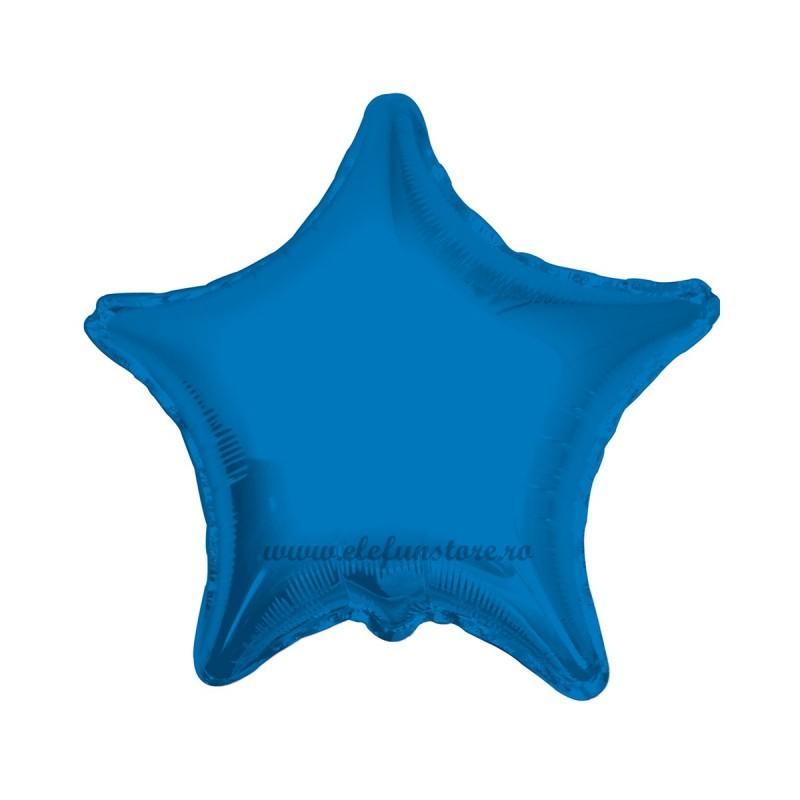 Balon Stea Albastra Metalizata 45cm