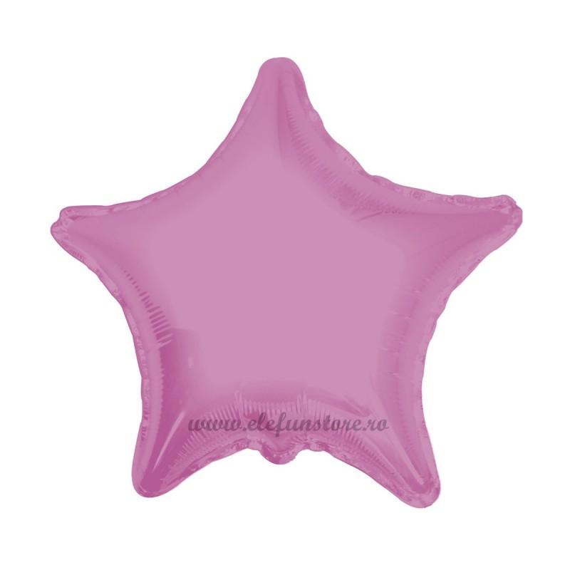Balon Stea Roz Metalizata 45cm